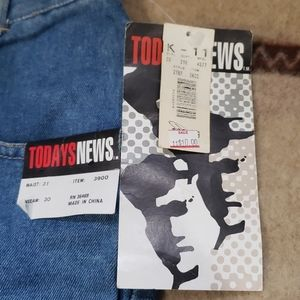 Vintage Today's News Stretch Jeans Mens Size 31x30